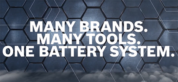 Bosch 18V Cordless Power Tool Alliance - Many Tools One Battery System
