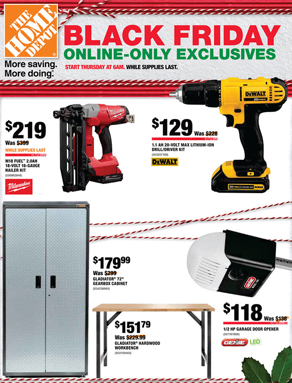 Home Depot Black Friday 2017 Online Only Tool Deals Page 1