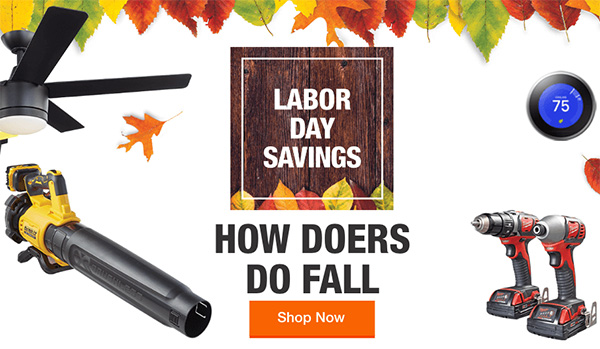 Home Depot Labor Day Savings Tool Deals 2020