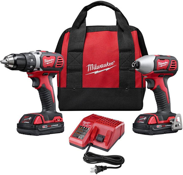 Milwaukee M18 2691-22 Drill and Impact Driver Combo Kit