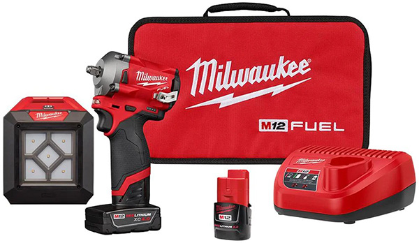 Home Depot Milwaukee M12 Stubby Impact Wrench with Worklight Bundle Deal